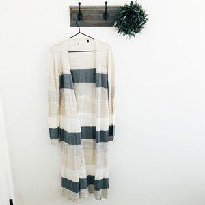 CAbi Gray Vineyard Duster Sweater S 5018